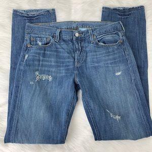 Levi Distressed 501 Straight Leg Denim Jeans 27